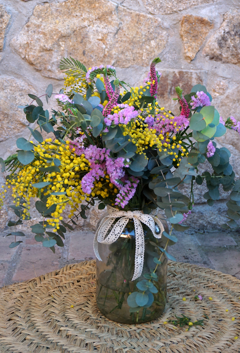 Centros de flores naturales flores en el columpio - Centros de plantas naturales ...