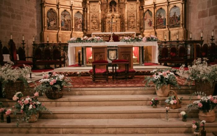 Decoración con flores de la Catedral de Calahorra