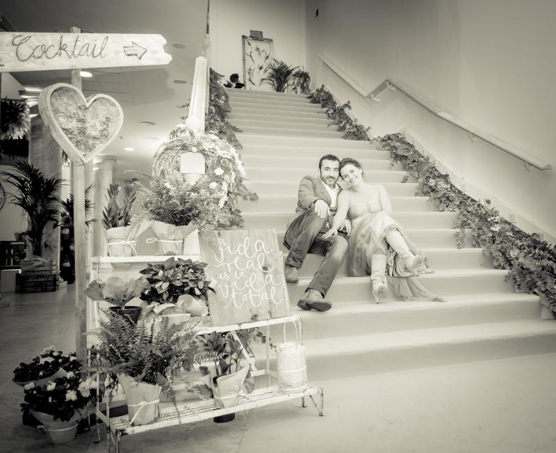 Decoración de una boda en un antiguo palacio