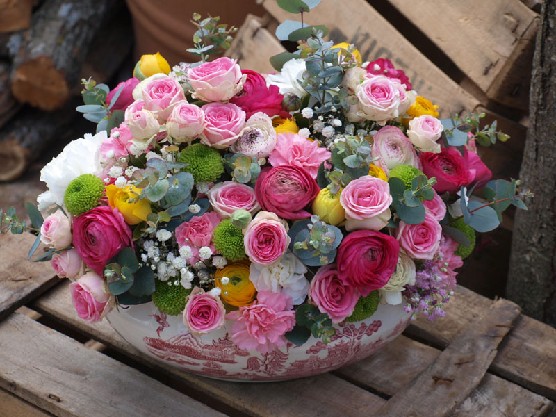 Flores para la abuela de laura flores en el columpio - Centro de flores naturales ...