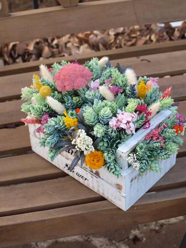 Centro de flores flores en el columpio - Flores secas decoracion ...