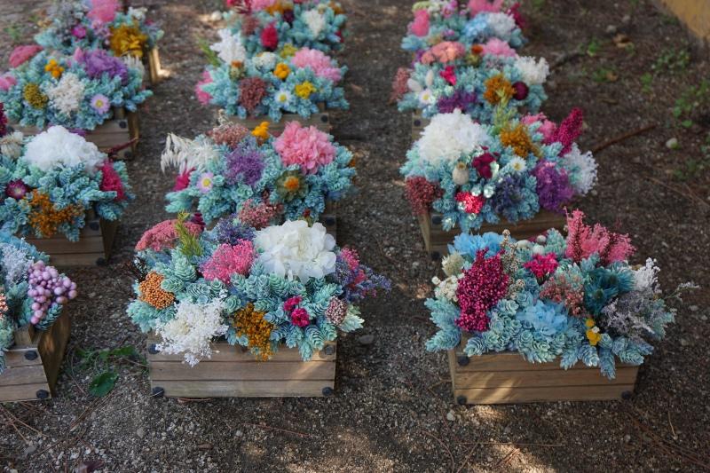 Centros de mesa para bodas con flores artificiales y secas for Centros de mesa artificiales