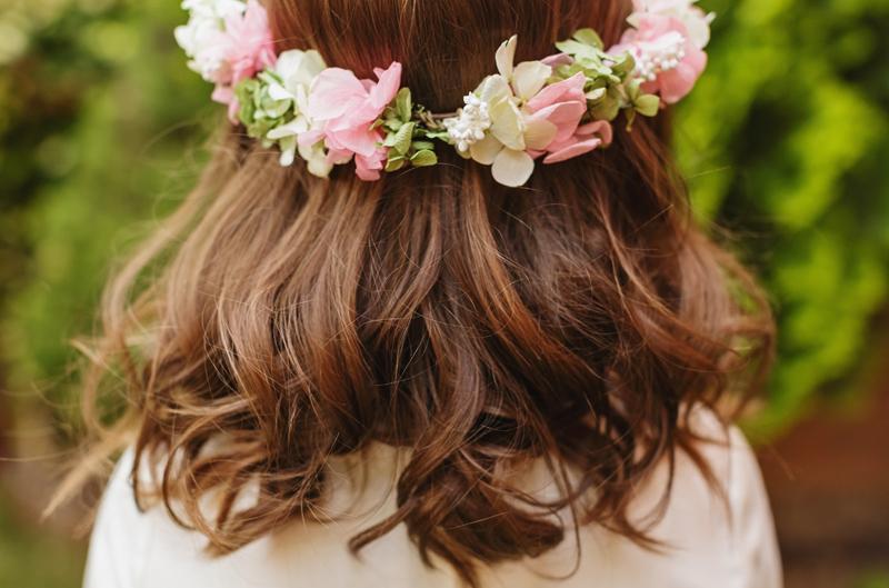 Diademas de flores naturales para comunion - Diademas de flores para nina ...