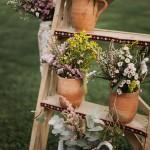 Decoración floral silvestre