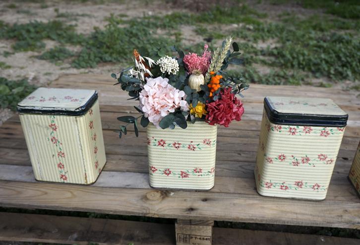 Centros de flores secas