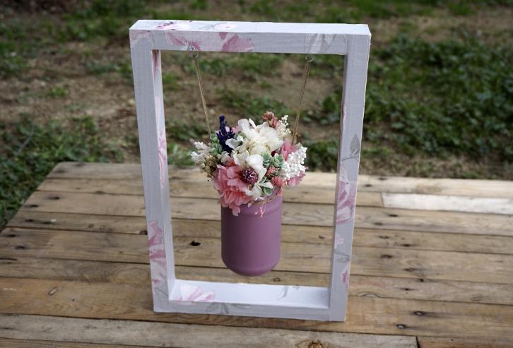 columpio papel flores