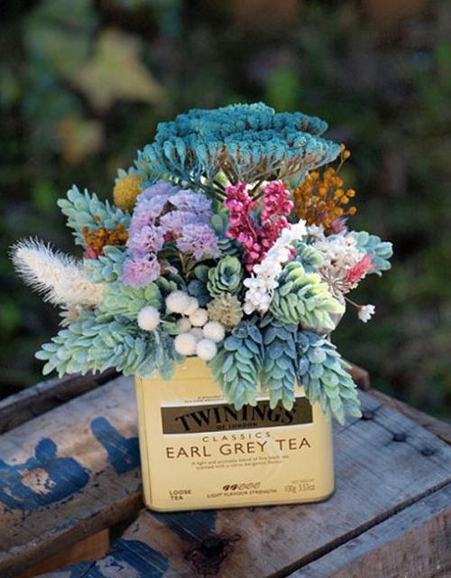 Centros de flores preservadas