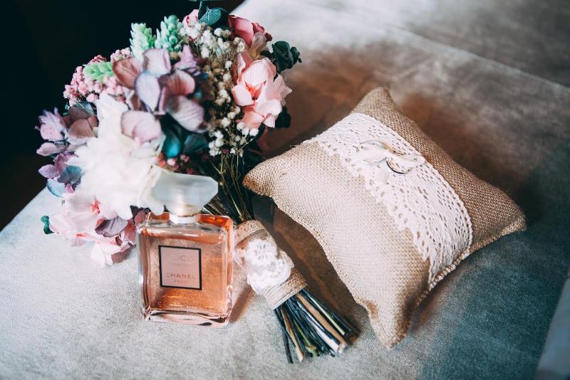Ramo de novia con gardenia, hortensias y eucalipto