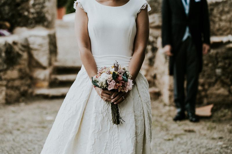 Ramo de novia preservado discreto en tonos pastel