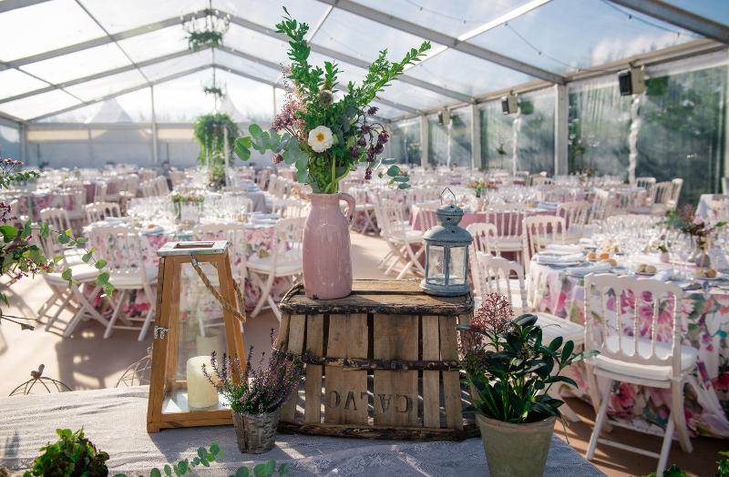 Decoración de boda otoñal