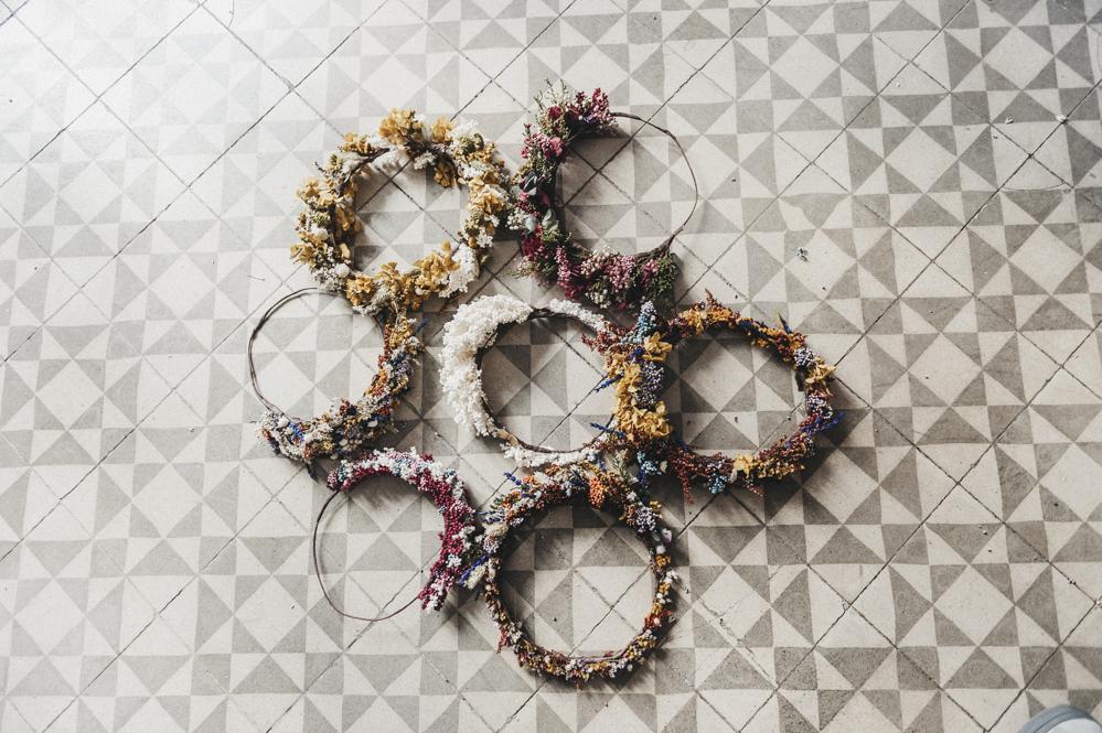 Talleres de coronas de flores en Madrid