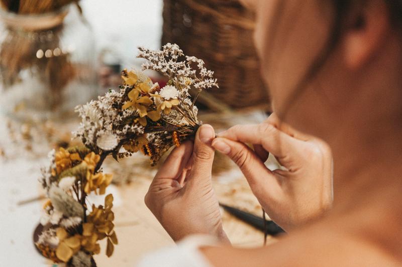 Aprender a hacer coronas de flores