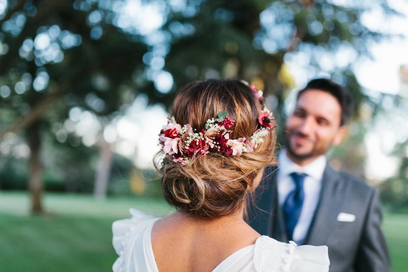 Corona para una novia delicada