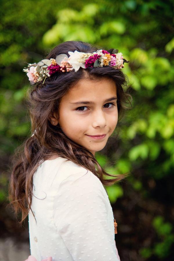 La corona de flores preservadas de Adriana