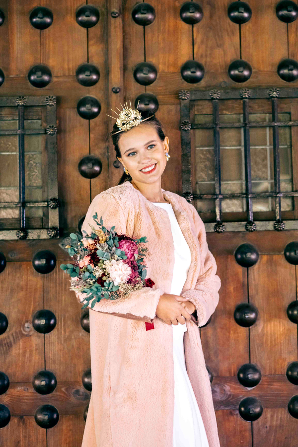Ramo de invierno para editorial Sweet Bride