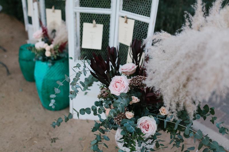 Decoración floral en el Castillo de Viñuelas - Seatting