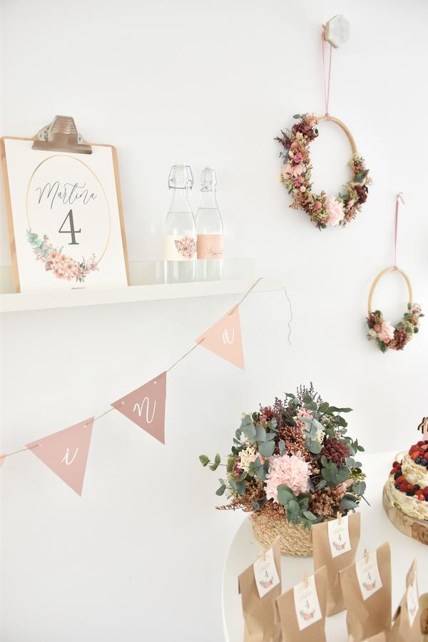 Decoración floral de cumpleaños
