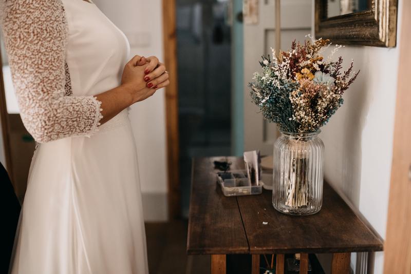 Ramo de novia de flores preservadas
