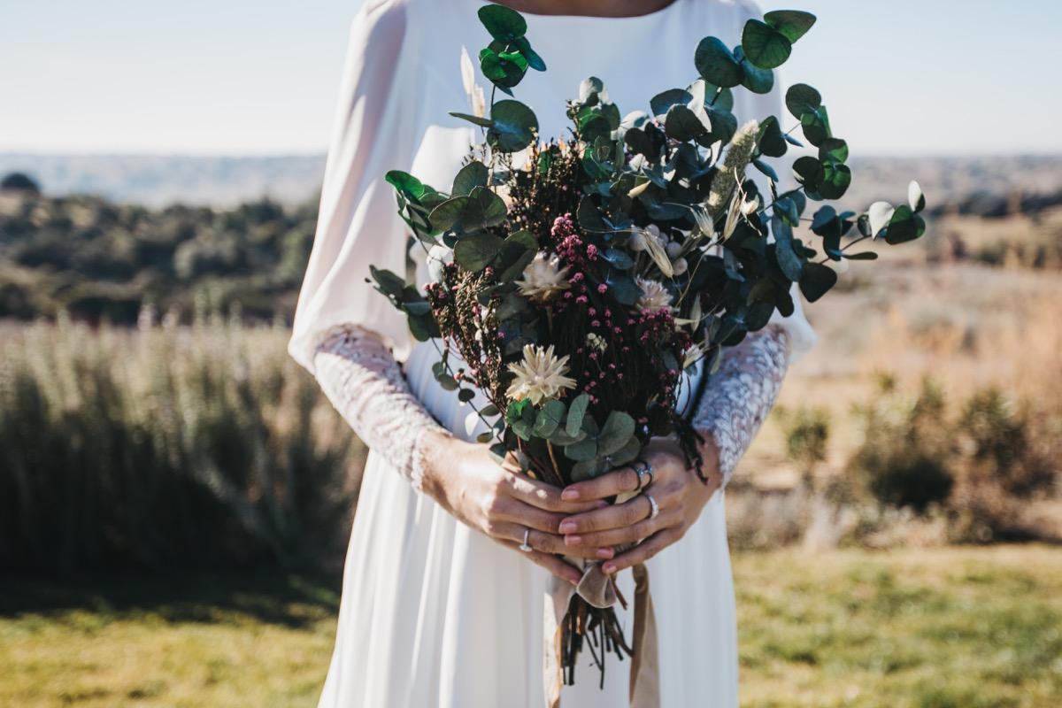 Ramo de flores preservadas silvestre