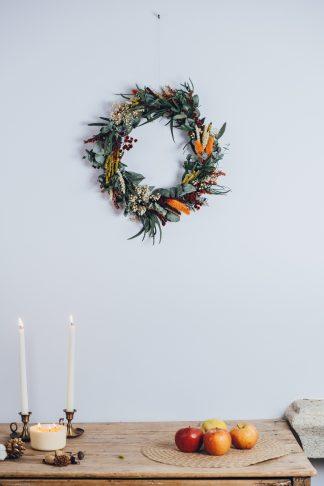 Corona de Navidad estilo campestre