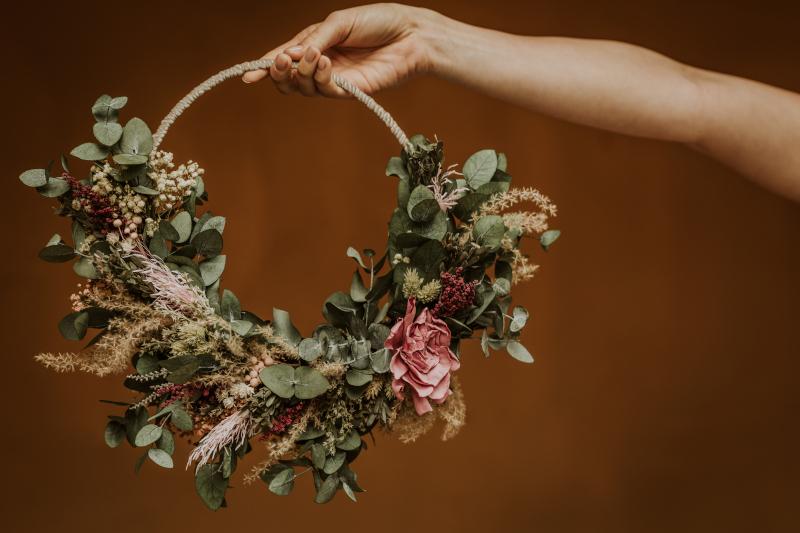 Ocho modelos de ramos de flores preservadas 15