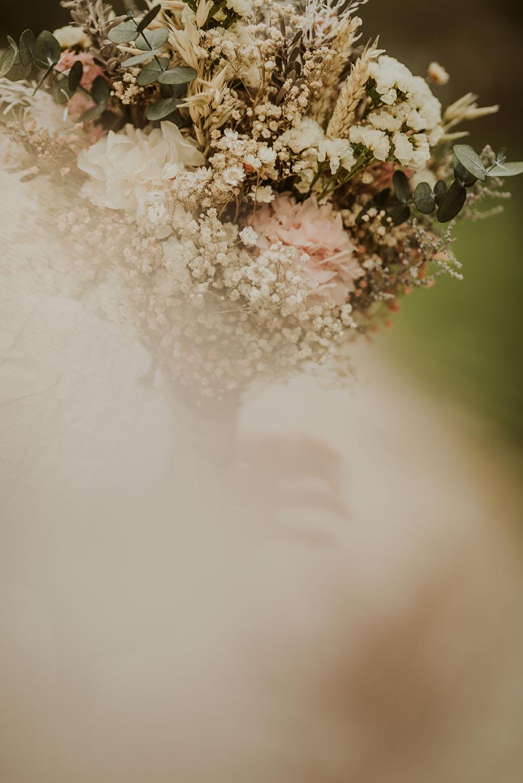 Ramo delicado preservado para novias