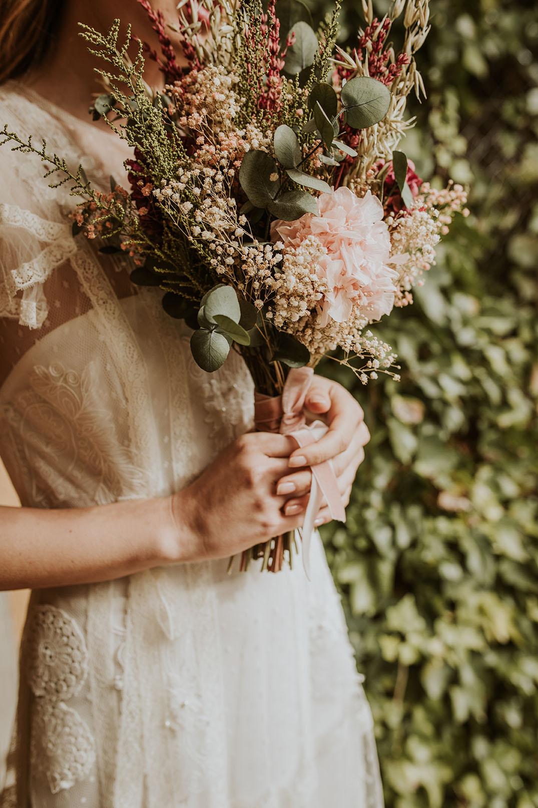 Ramo silvestre alargado preservado novias