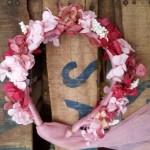 diadema de hortensias