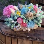 Centro de flores secas