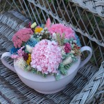 sopera de flores