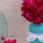 decoración floral alhelí