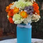 Bouquet destellos naranjas