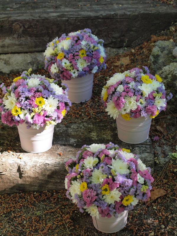 Centro De Siemprevivas Flores En El Columpio