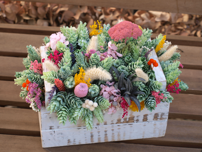 Centro de flores flores en el columpio - Adornos flores secas ...