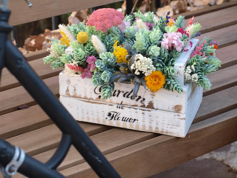 Centro de flores flores en el columpio - Decoracion con flores secas ...