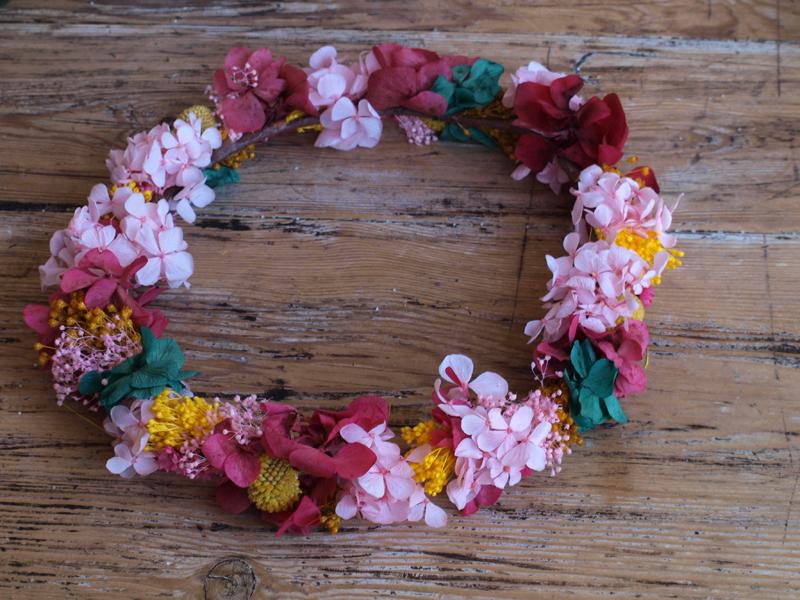 Corona de hortensias liofilizadas archivos flores en el - Coronitas de flores ...