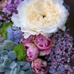 flores del ramo de novia de Elena