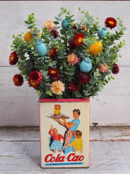 Flores con colacao