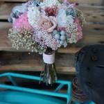 Bouquet romántico con gardenia