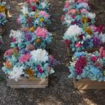 Centros de mesa para bodas con flores artificiales y secas