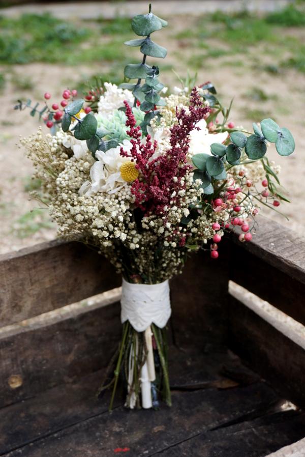 Flores preservadas con base de eucalipto floresenelcolumpio for Decoracion bodas baratas