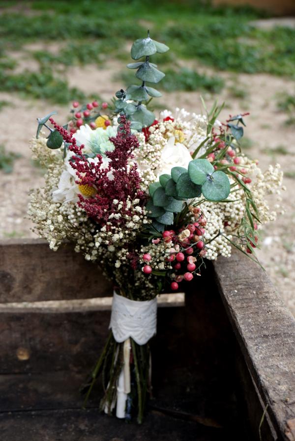 Flores preservadas con base de eucalipto floresenelcolumpio - Plantas secas decoracion ...