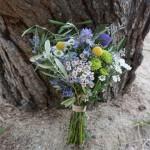 Ramo de novia con hojas de olivo