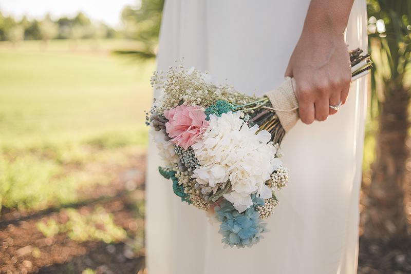 Ramo de novia en color menta