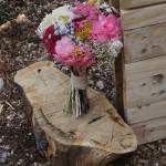 Ramo de novia con flores preservadas y secas