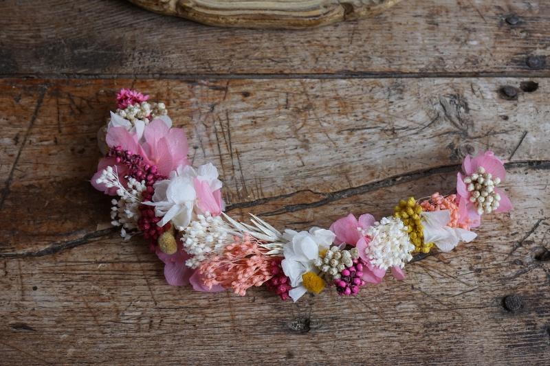 Tocado de flores preservadas flores en el columpio for Como hacer un columpio de tela